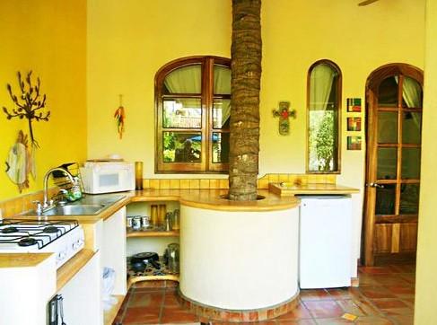 Цвет стен на кухне, как фон для цветных экспериментов или акцент в интерьере