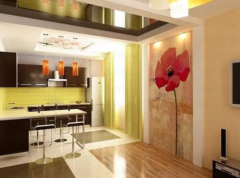 Проекты кухни-студии - помещение 20 кв м