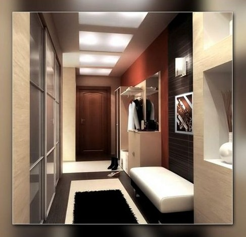 Решаем проблему узких коридоров в квартире - вариант дизайн-решений