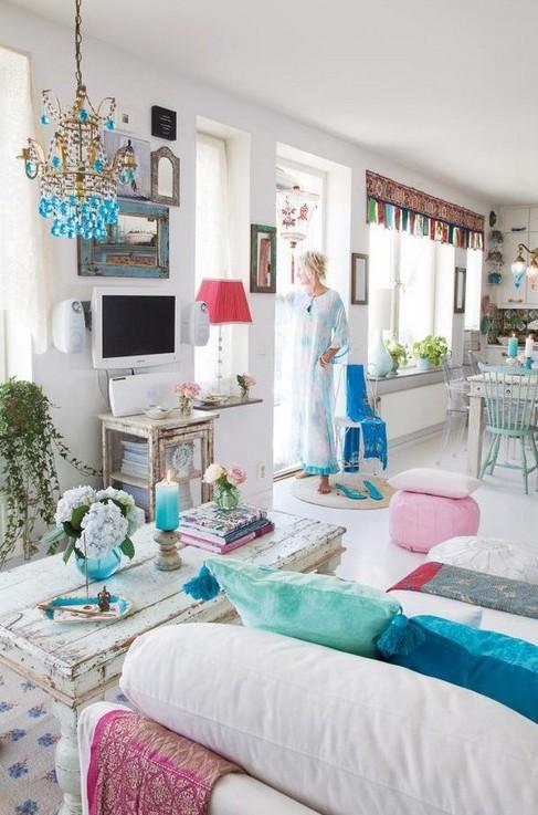 Стиль бохо в интерьере кухни, детской и др комнат + фото