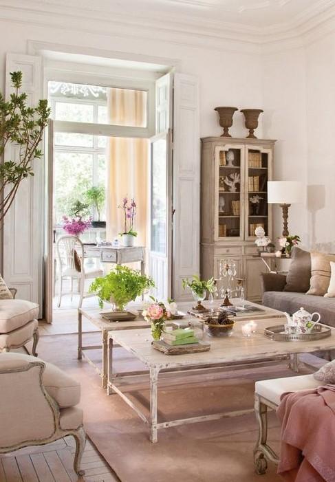 Стиль Прованс в дизайне интерьера на фото: предметы, детали современного красивого интерьера в стиле Прованс