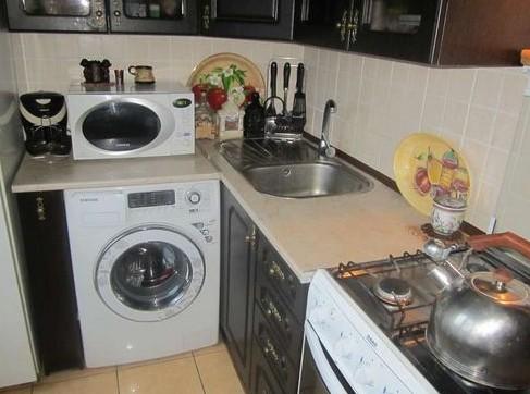 Стиральная машина на кухне: ваш вопрос – наш ответ
