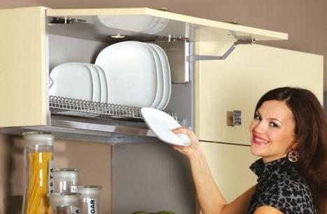 Сушилки и кухонные шкафы для хранения и высушивания посуды