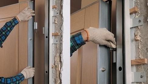 Установка металлической двери своими руками - монтаж на фото и видео